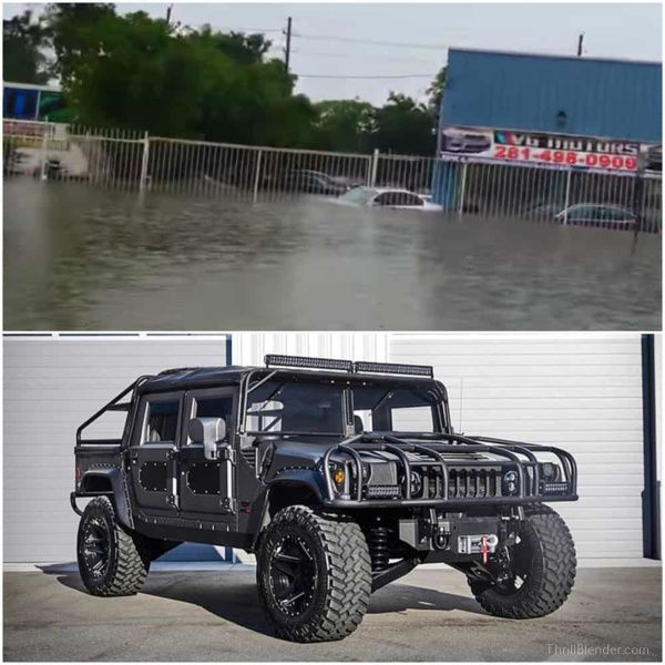 Watch This Hummer Battle It Out Against Flood Waters In Houston  (Video)