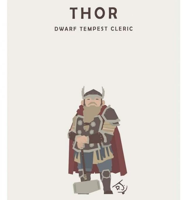 Marvel Heroes As D&D Characters (16 pics)