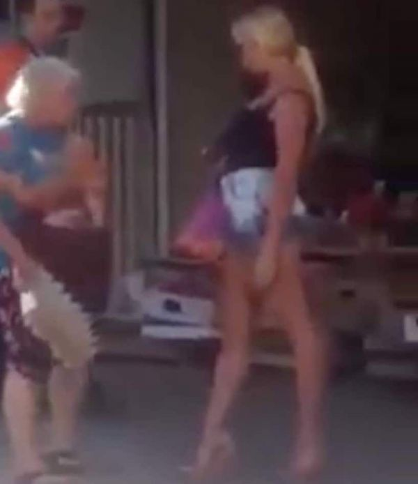 Hot Russian Messes With The Wrong Granny (Video)