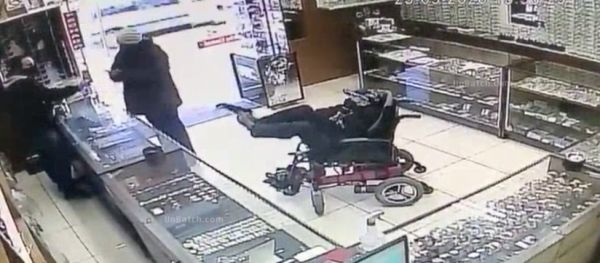 Robber In Wheelchair Holds Gun With His FEET !? (Video)