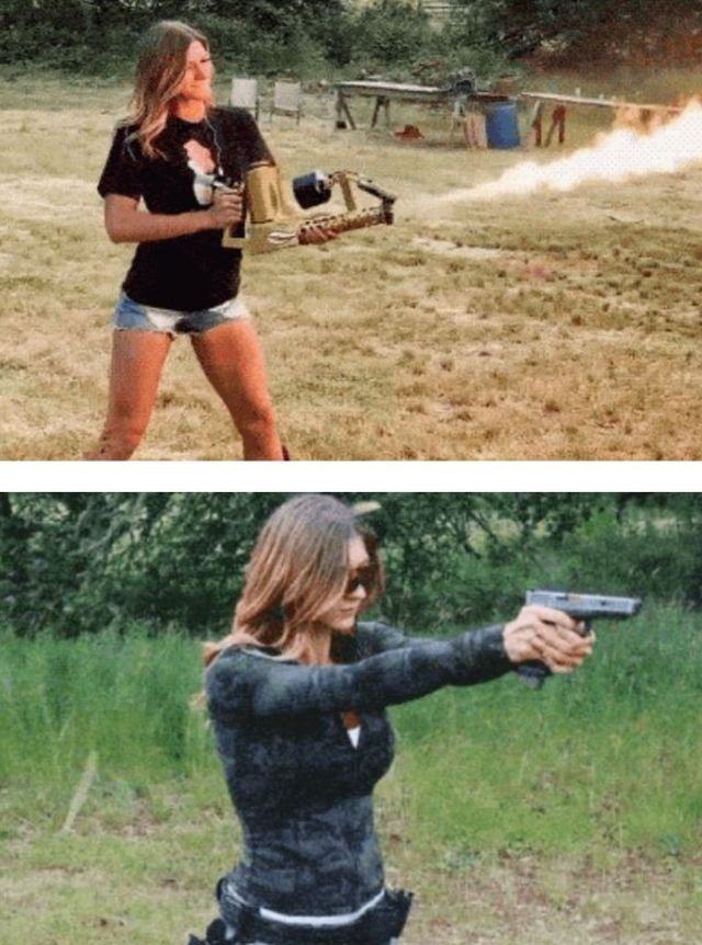 A Girl With The Guns (15 gifs)