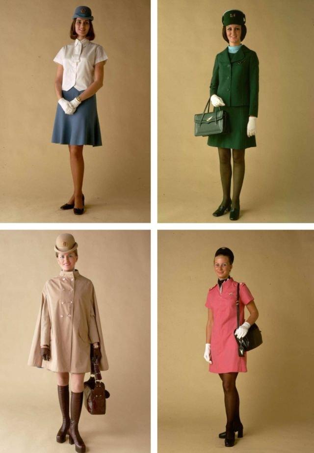 70's Flight Attendant Uniforms (15 pics)