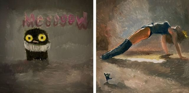 Pop Culture Painting And Cats (33 pics)